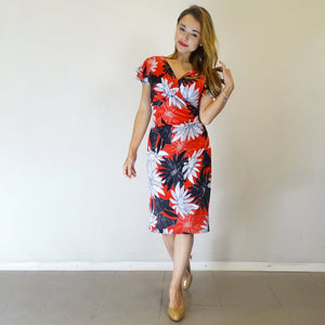 Flame Tree Flutter Sleeve Dress - Rebecca Ruby