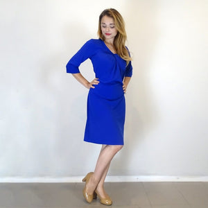 Royal Blue Manhattan Knot Dress - Rebecca Ruby