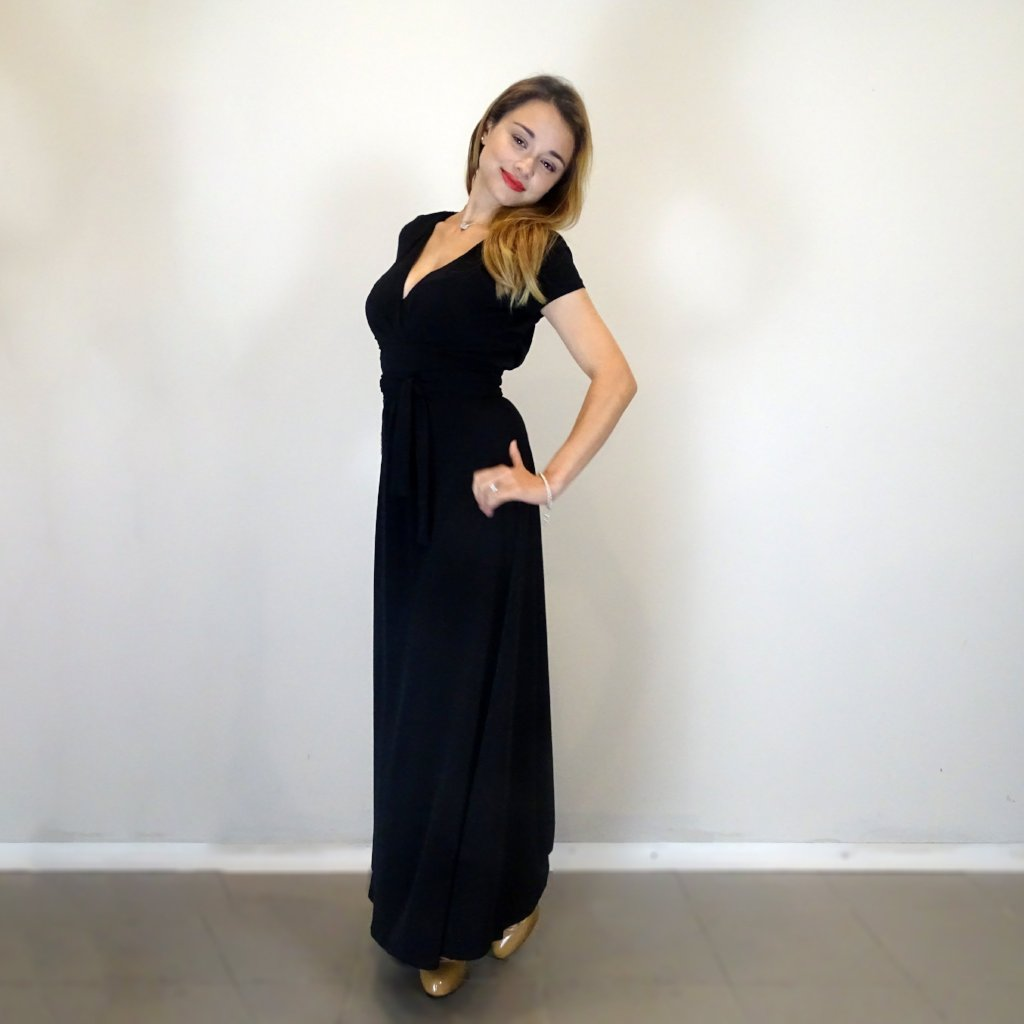 Classic Black Maxi Dress - Rebecca Ruby