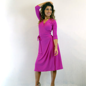 Fuscia Wrap Dress