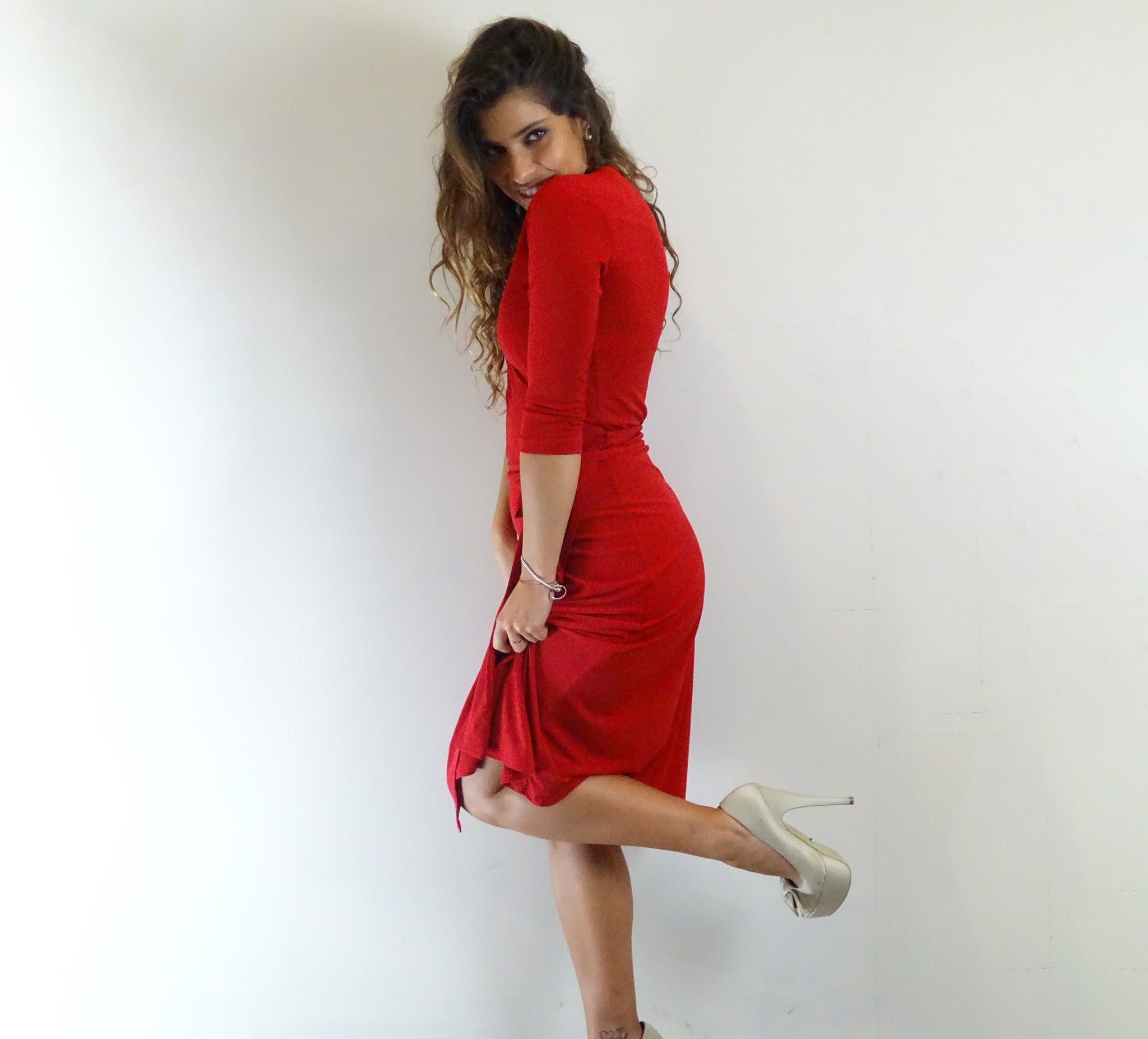 Ruby Red Wrap Dress