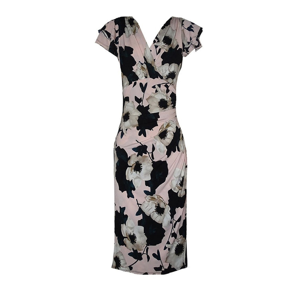 White Anemone Flounce Dress - Rebecca Ruby