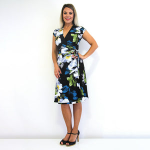 Spectrum Wrap Dress - Rebecca Ruby