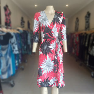 Flame Tree Wrap Dress