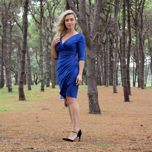 Cobalt Ruched Dress