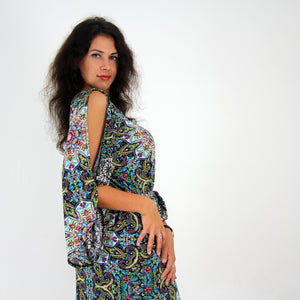 Mandala Split Sleeve Dress - Rebecca Ruby