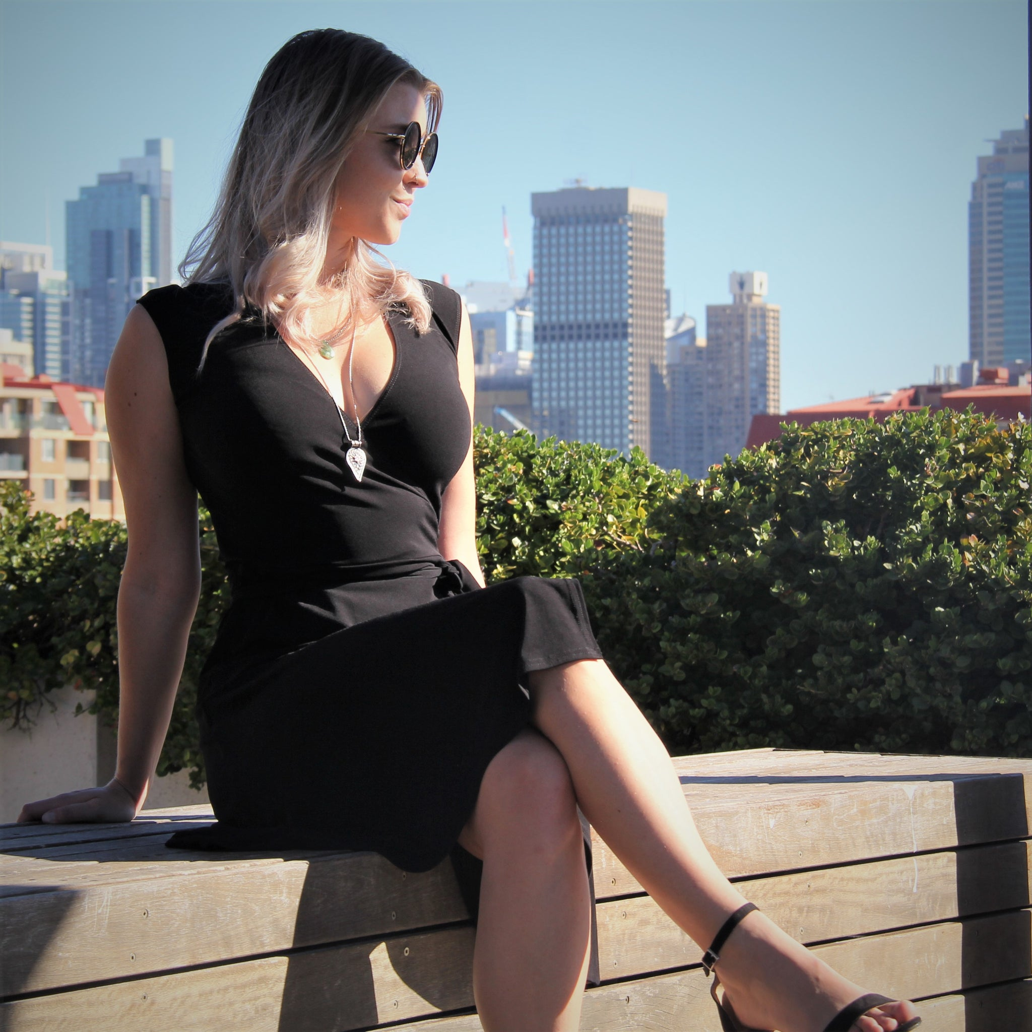 Little Black Classic Wrap Dress