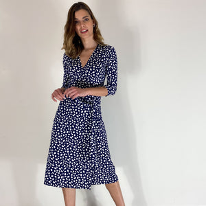 Pebbles ¾ Sleeve Wrap Dress