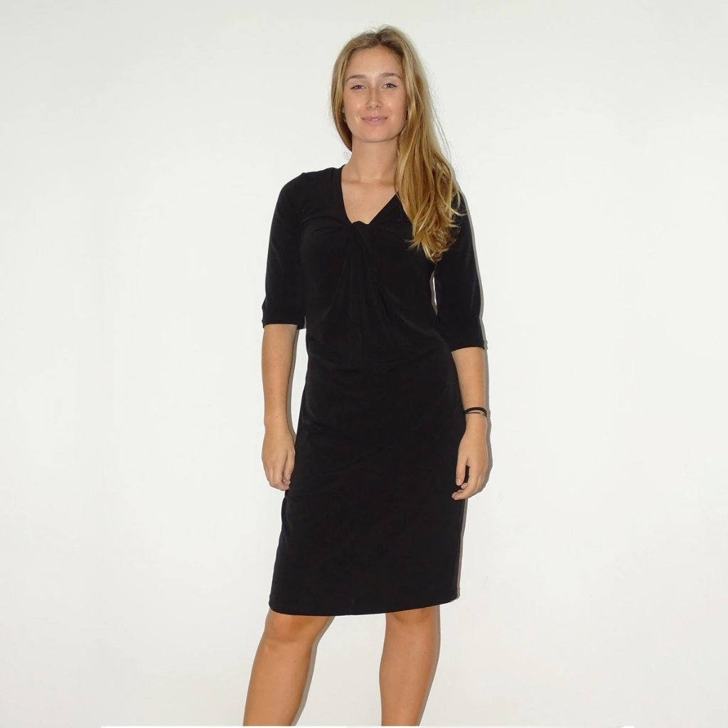 Black Manhattan Knot Dress - Rebecca Ruby