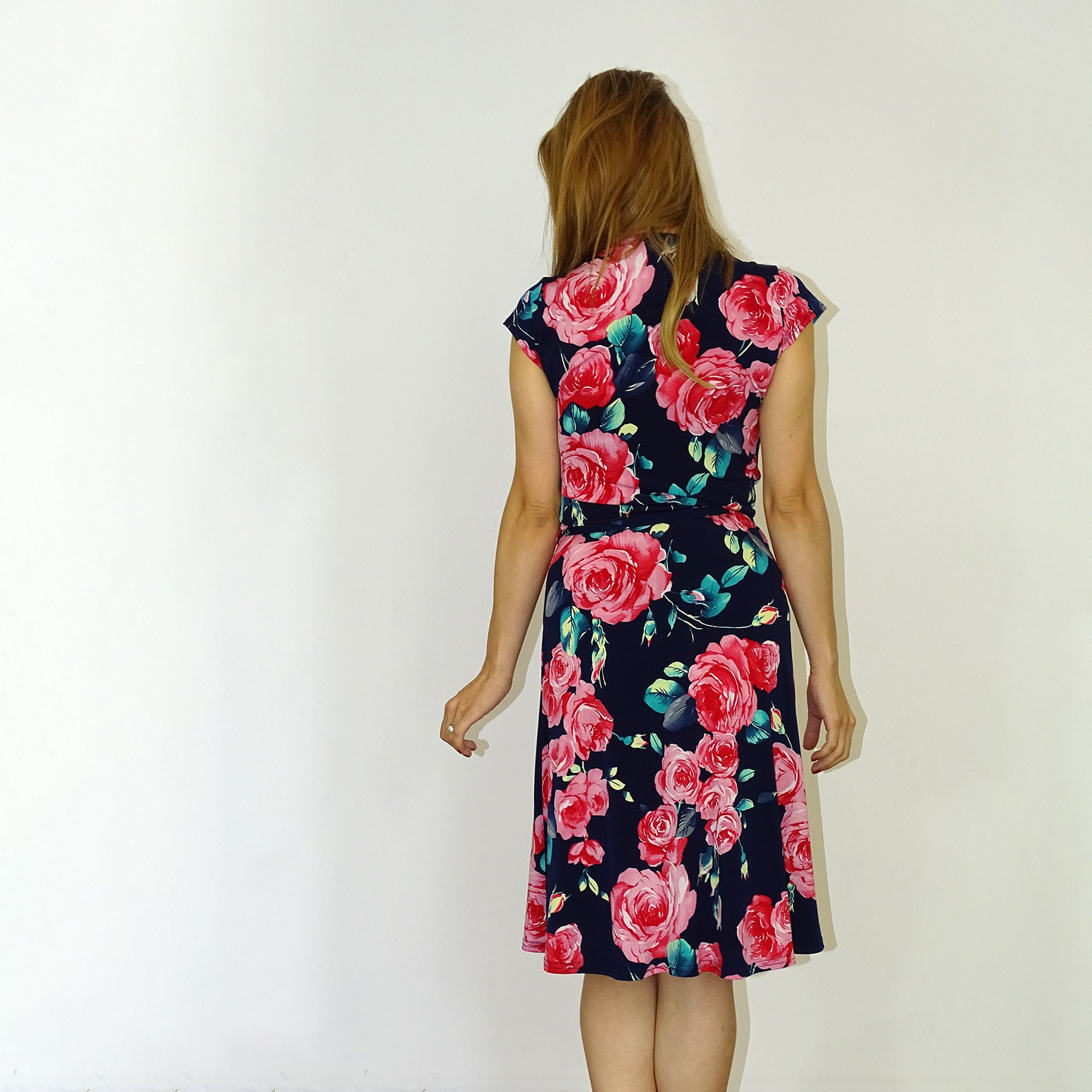 Wild Rose Wrap Dress - Rebecca Ruby