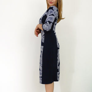 Rivers of Eden Navy Trim Dress - Rebecca Ruby