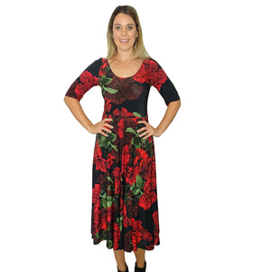 Rose Fit & Flared Dress - Rebecca Ruby