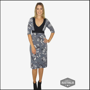 Fossil Flower Geisha Dress - Rebecca Ruby