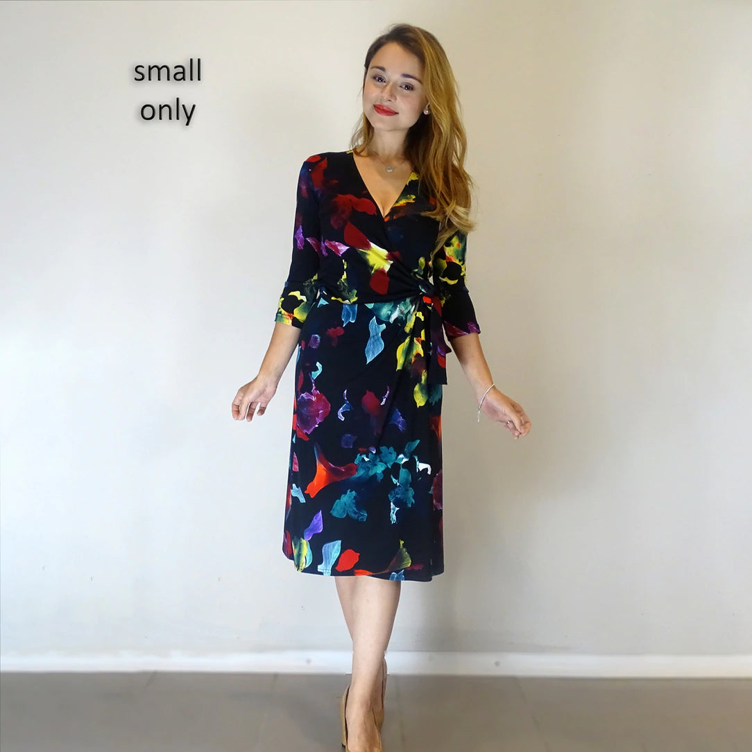 Neon Flowers ¾ Sleeve Wrap - Rebecca Ruby
