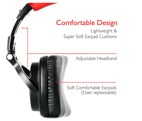 Oneodio HiFi Wireless Bluetooth Stereo Headphones With Extended Mic for PC,  PS4, and Xbox One