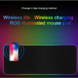 XXL RGB Soft Anti-Slip Gaming Mouse Pad With Built in Wireless Charger (31.5 x 12 inches, Black)