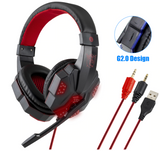 Hello Headphones H2 Pro Wired LED Noise Canceling Gaming Headphones