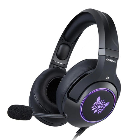 ONIKUMA K9 Wired PS4 & PC Gaming Headphones With Retractable Mic