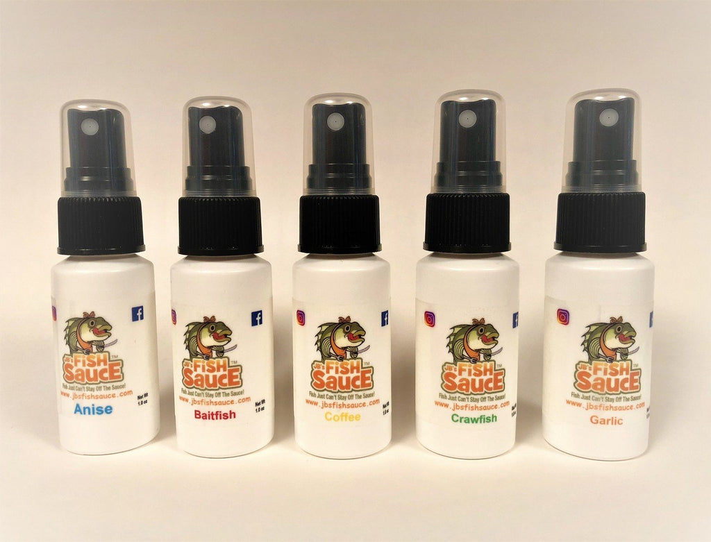 JB's Fish Sauce ***NEW*** 5 Pack of 1oz Mists - One of each Scent