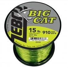 Zebco Big Cat Line HiVis Yellow-Moss Green 1-4lb 15lb