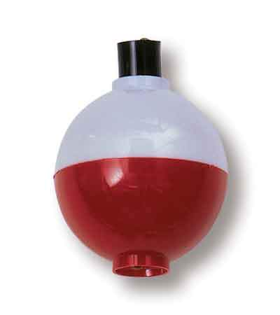 "Betts Snap-On Floats 2ct 1.50"" Red-White"