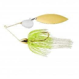 War Eagle Spinnerbait Gold Frame TW 1-2 White Chartreuse