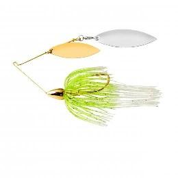 War Eagle Spinnerbait Gold Frame DW 1-2 White Chartreuse