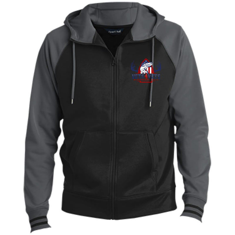 V4V - Sport-Tek Men's Sport-Wick® Full-Zip Hooded Jacket