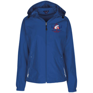 V4V - Sport-Tek Ladies' Jersey-Lined Hooded Windbreaker