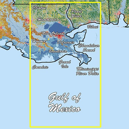 Garmin Louisiana East Standard Mapping Classic