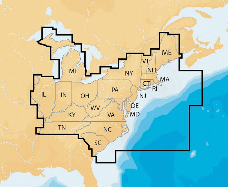 Navionics Nav Plus East Msd Regional Lakes And Coastal