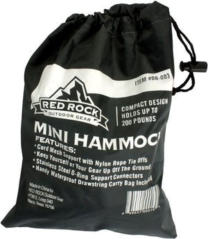Red Rock Nylon Hammock Holds - 250 Pounds W- Nylon Carry Bag