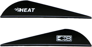 "Bohning Heat Vane 2.5"" - Solid Black 36pk"
