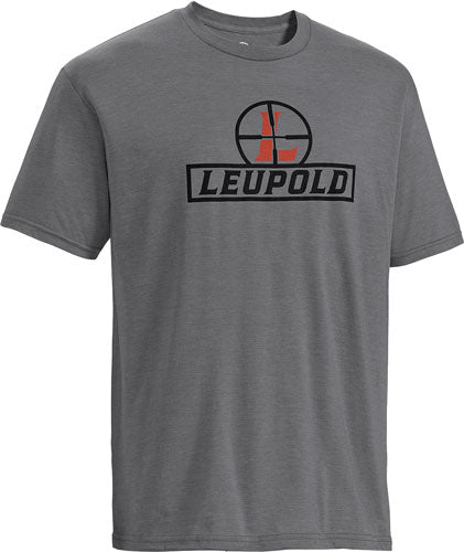 Leupold T-shirt Reticle - S-sleeve Heather Gray Large