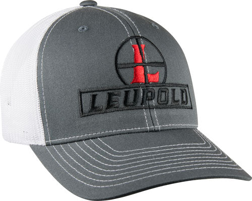 "Leupold Hat Trucker ""reticle"" - Mesh Charcoal-white Os"