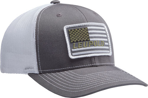 "Leupold Hat Trucker ""flag - Patch"" Charcoal-white Os"