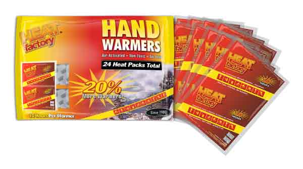 Heat Factory Hand Warmer Mini - Family 24 Pack (12 Pair) 10hr