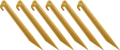 "Coleman 9"" Abs Tent Stakes - 6 Stakes Per Pack"