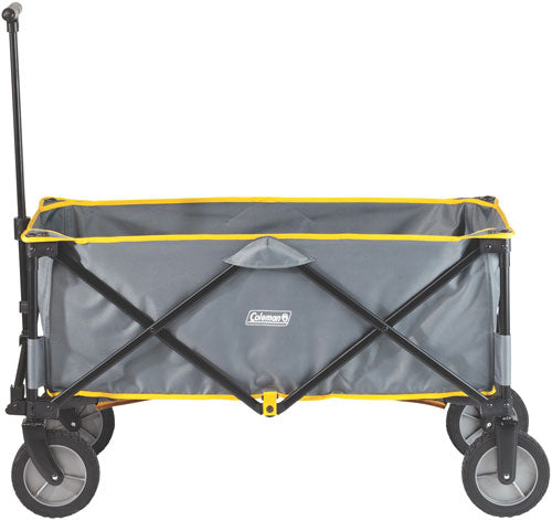 Coleman Folding Camp Wagon W- - Wheels Gray-black-yellow Trim