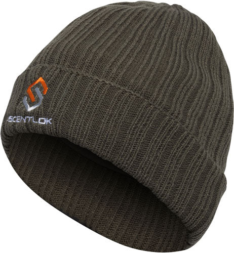 Scentlok Beanie Carbon Alloy - Knit Cuff Green
