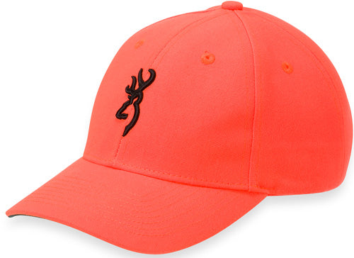 Bg Cap Youth Safety Orange W- - 3-d Buck Mark Logo Adjustable