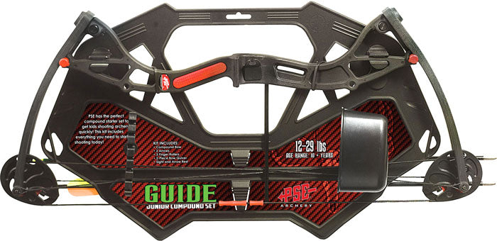 Pse Bow Kit Guide Compound - Youth 12-29# Black Ages 10+