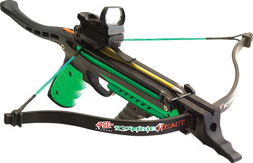 Pse Hand Held Crossbow Zombie - React 215fps 50# Draw Black