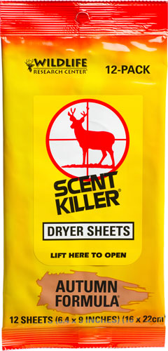 Wrc Dryer Sheets Scent Killer - Autumn Formula 12-pack