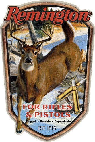 Open Road Brands Emb Tin Sign - Remington Rifles & Pistols