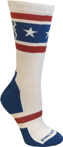 Bg Unisex America Red White & - Blue Socks Large Calf Height