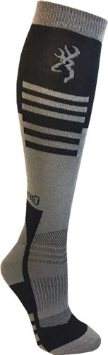 Bg Unisex Elm Socks M-l - Black & Grey Calf Height