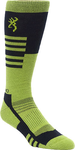 Bg Unisex Elm Socks M-l - Black & Green Calf Height