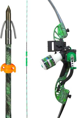 Ams Bowfishing Complete Bow - Kit Water Moc Recurve Green Rh