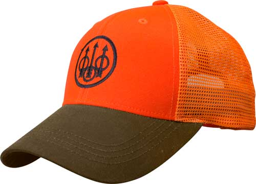 Beretta Cap Upland Trucker - Blaze Mesh Back Orange-tobacco